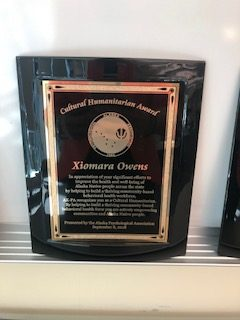 Cultural Humanitarian Award, presented to Xiomara Owens