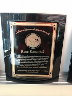 Cultural Humanitarian Award, presented to Rose Domnick